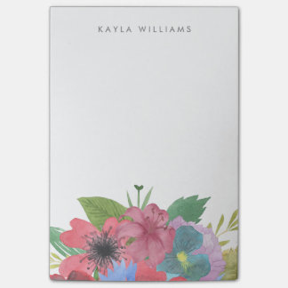 Wildflower Bouquet Personalized Post-it Notes