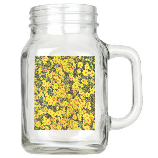 Wildflower Collection Large Mason Jar with Handle