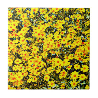 Wildflower Collection Small Ceramic Photo Tile