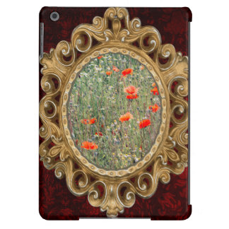 Wildflower Field and Red Poppies Blooming iPad Air Covers