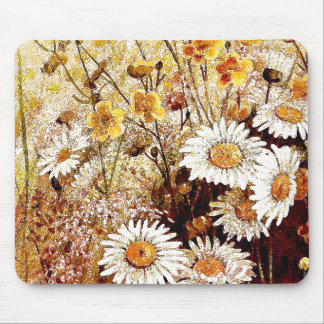 Wildflower Floral Daisy Flowers Mousepad