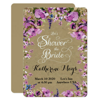 Wildflower Frame Bachelorette Card