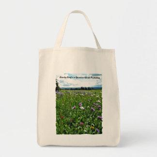 Wildflower Grocery Bag