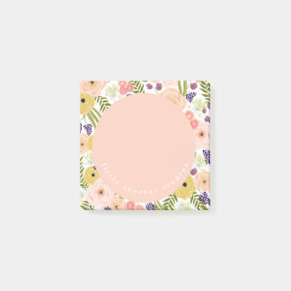 Wildflower Personalized Post It Notes