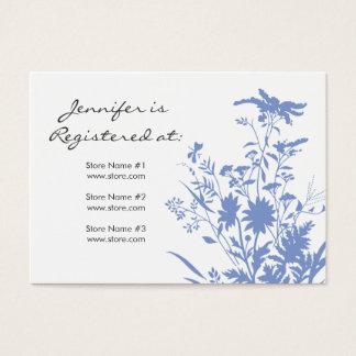 Wildflower Registry Card