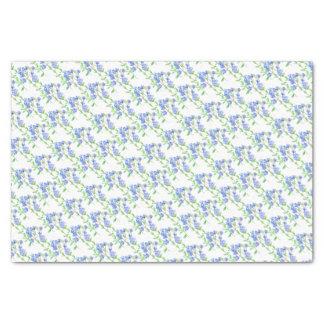 Wildflower speedwell blue green white tissue paper