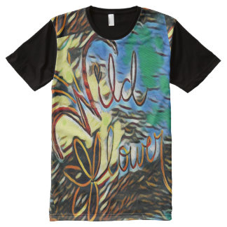 """""""Wildflower"""" Typography Art All Over Print T Shirt All-Over Print T-Shirt"""