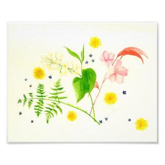 wildflower watercolor  print