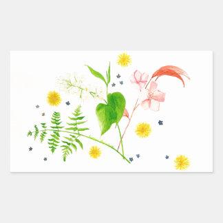 wildflower watercolor sticker