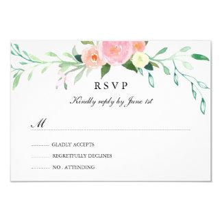 Wildflower Watercolor Wedding RSVP Card