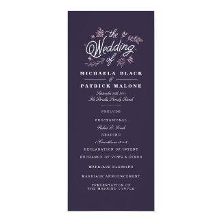 Wildflower Wedding Program