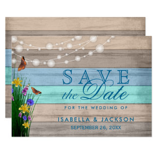 Wildflower Wood Save the Date Card