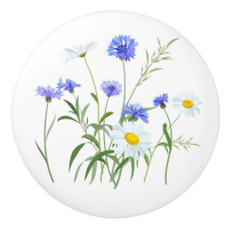Wildflowers 2 ceramic knob
