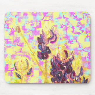 wildflowers abstract mouse pads