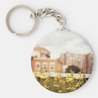 Wildflowers Along the High Line Basic Round Button Key Ring