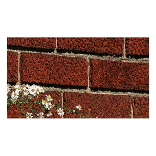 Wildflowers and bricks business card