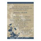 Wildflowers and Burlap Wedding Card