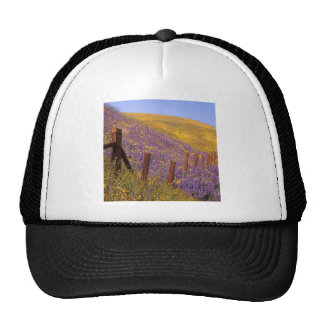 Wildflowers And Fence Post Trucker Hat