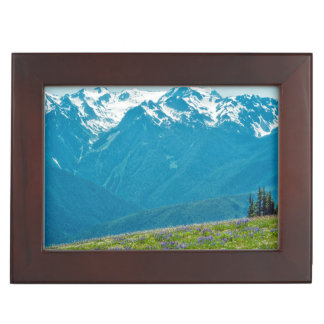 Wildflowers and Mountains Keepsake Box
