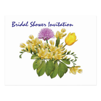 Wildflowers Cheap Inexpensive Bridal Shower Party Postcard