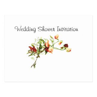 Wildflowers Favors Ideas, Wedding Shower Theme Postcard