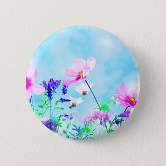 Wildflowers In Nature 6 Cm Round Badge