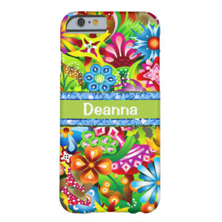 Wildflowers In Vivid Colours Personalised Barely There iPhone 6 Case