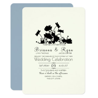 Wildflowers Ink Cornflower Blue Card