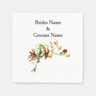 Wildflowers Modern Simple Elegant WeddingIdeas Disposable Napkin