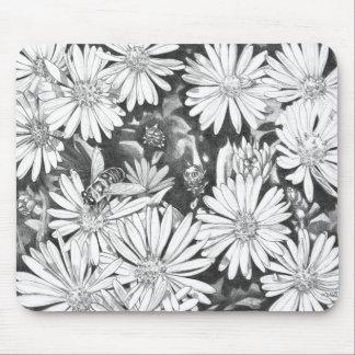 Wildflowers Mouspad  Flower Sketch Computer Decor Mousepad