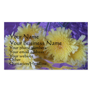 Wildflowers on Foil Business Card