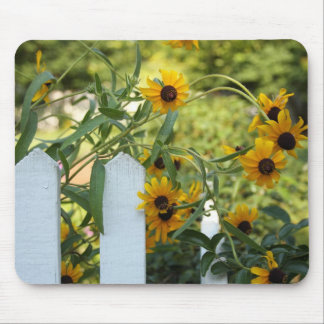 Wildflowers on the fence mouse pad