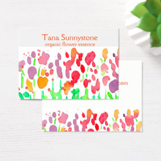 Wildflowers Rainbow Colors Business Card