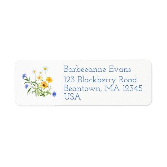 Wildflowers Return Address Label