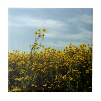 Wildflowers Sunflowers Tile