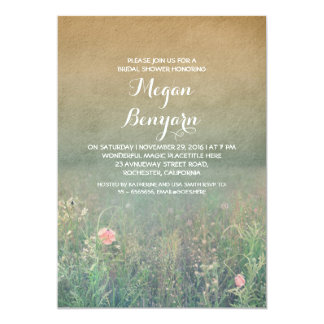 wildflowers vintage bridal shower invites