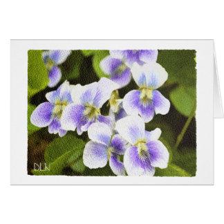 Wildflowers Violets/ Floral/Watercolor Look Card