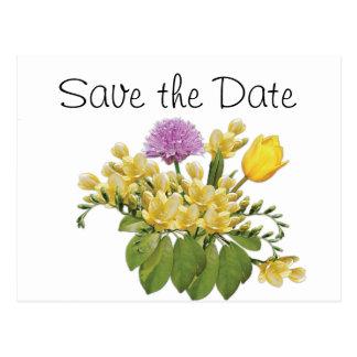 Wildflowers Wedding Day Theme Save the Date Postcard
