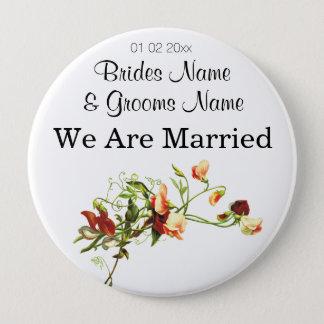 Wildflowers Wedding Souvenirs Keepsakes Giveaways 10 Cm Round Badge