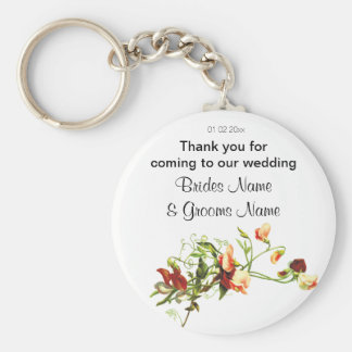Wildflowers Wedding Souvenirs Keepsakes Giveaways Basic Round Button Key Ring