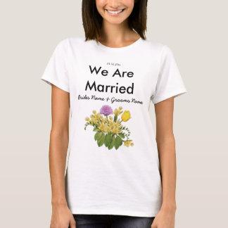Wildflowers Wedding Souvenirs Keepsakes Giveaways T-Shirt