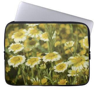 Wildflowers Yellow and White Sunflowers Laptop Sleeve