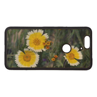 Wildflowers Yellow and White Sunflowers Wood Nexus 6P Case