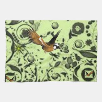 wildlife bird kitchen hand towel