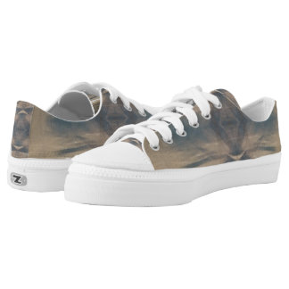 Wildlife Brown White Jungle Zipz Low Top Shoes