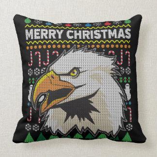 Wildlife Eagle Merry Christmas Ugly Sweater Cushion
