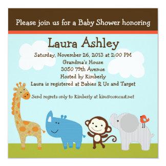 Wildlife Jungle Animals Baby Shower Invitation