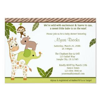 Wildlife Jungle MONKEY Baby Shower invitation WJC