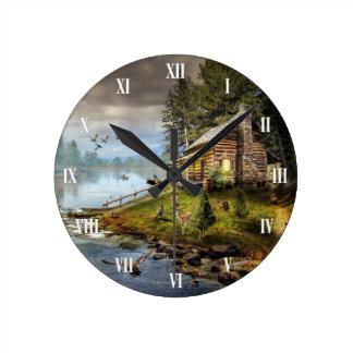 Wildlife Landscape Wall Clock