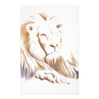 Wildlife: Lion Picture Personalized Stationery